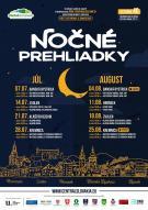 Nočné prehliadky v júli a auguste 1